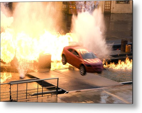 Fire Metal Print featuring the photograph Explosion by Lisha Segur