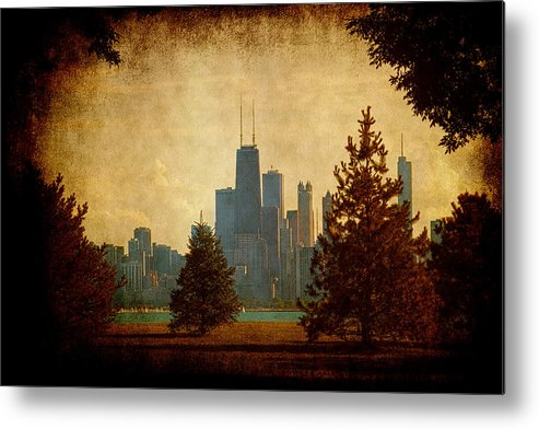 Lake Metal Print featuring the photograph Fall In The City by Milena Ilieva