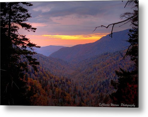 Sunset Metal Print featuring the photograph Fall Sunset by Charles Warren
