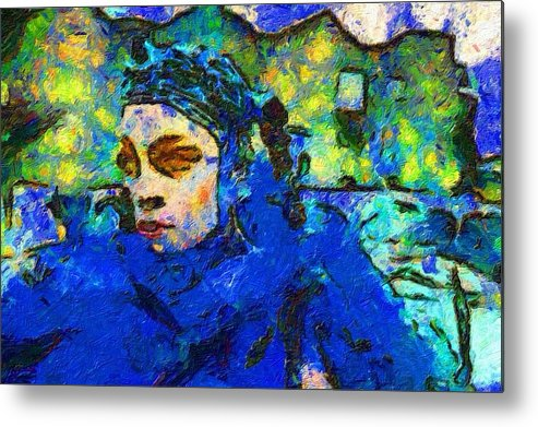Impressionist Fashion Painting Metal Print featuring the painting Fashion 324 by Jacques Silberstein