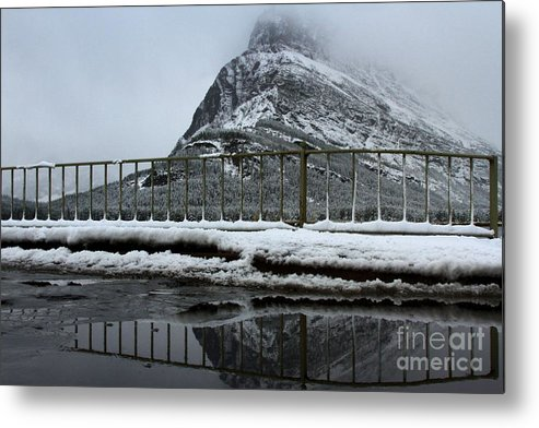 Grinnell Point Metal Print featuring the photograph Fenced In by Adam Jewell