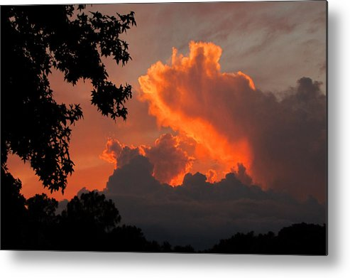Sunset Metal Print featuring the photograph Fiery Sunset by Peg Urban