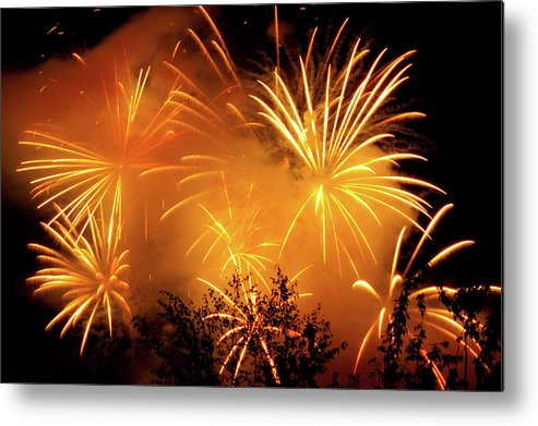 Fireworks Metal Print featuring the photograph Fireworks Finale by Stanley French