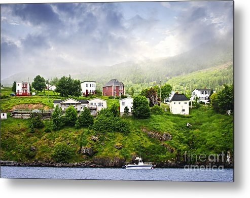 Fishing Metal Print featuring the photograph Fishing Village In Newfoundland by Elena Elisseeva