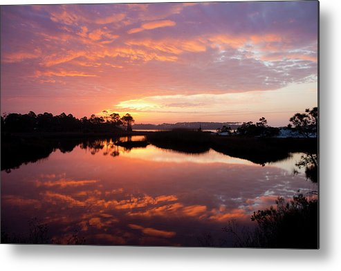 Sunrise Metal Print featuring the photograph Florida Sunrise by Charles Warren