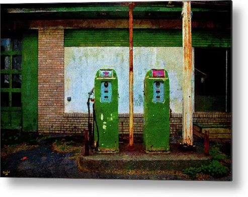 Flying A Gasoline Metal Print featuring the photograph Flying A Gas Station by Chris Lord