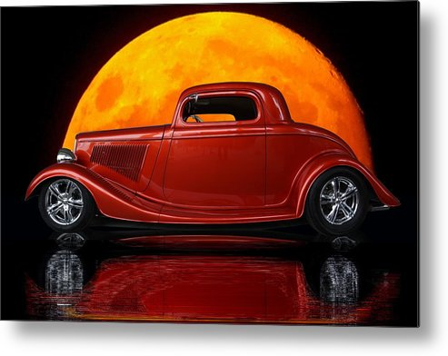Ford Metal Print featuring the photograph Ford Coupe by Alan Hutchins
