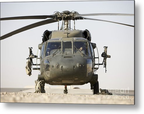 Aviation Metal Print featuring the photograph Front View Of A Uh-60l Black Hawk by Terry Moore