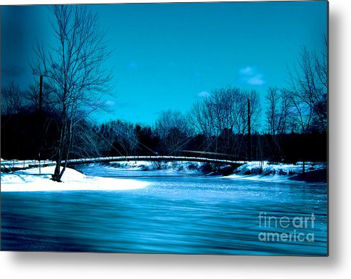 Landscape Metal Print featuring the photograph Frozen Bridge by Dan Bouffard