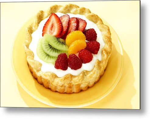Fruit Metal Print featuring the photograph Fruit Tart by Federico Arce