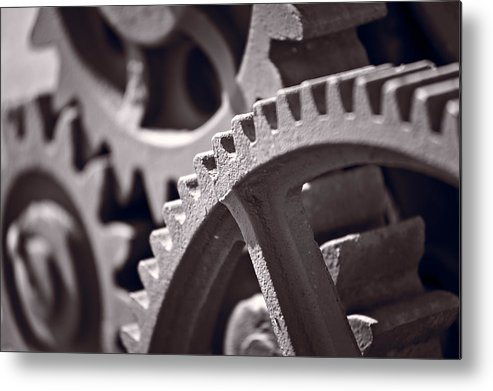 Gear Metal Print featuring the photograph Gears Number 3 by Steve Gadomski