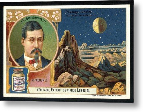 Giovanni Schiaparelli Metal Print featuring the photograph Giovanni Schiaparelli Lunar Advert by Detlev Van Ravenswaay