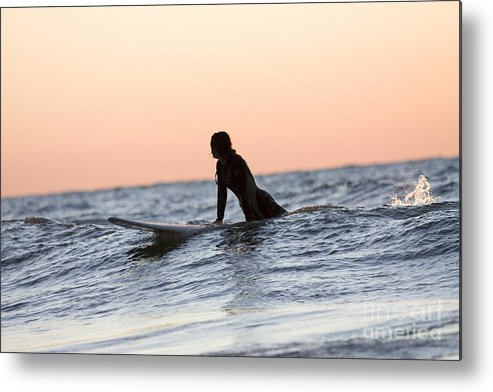Horizontal Metal Print featuring the photograph Trying To Catch A Wave by Christopher Purcell