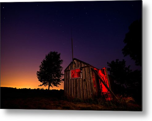 Shed Metal Print featuring the photograph Glowing Shed by Cale Best