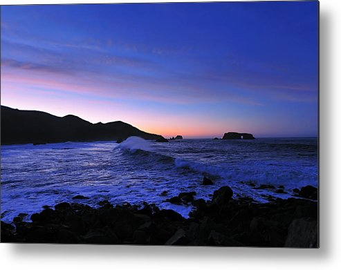Sunrise At Goat Rock State Beach Metal Print featuring the photograph Goat Rock Sunrise by Richard Leon