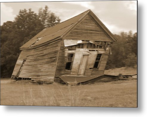 Old Building Metal Print featuring the photograph Going Down by Mike McGlothlen