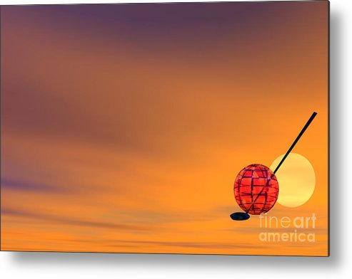 Activity Metal Print featuring the digital art Golf Of Planet by Odon Czintos