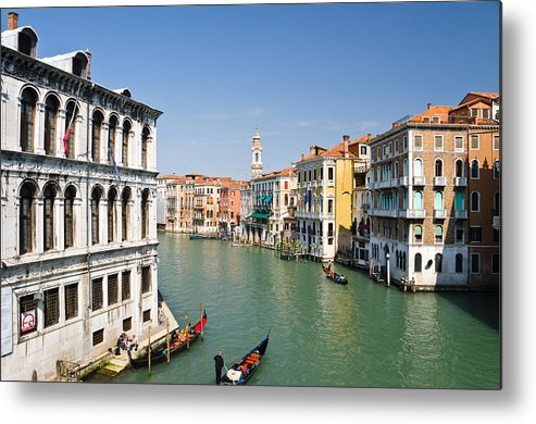 Adriatic Metal Print featuring the photograph Grand Canal With Gondola Venice by Assawin Chomjit