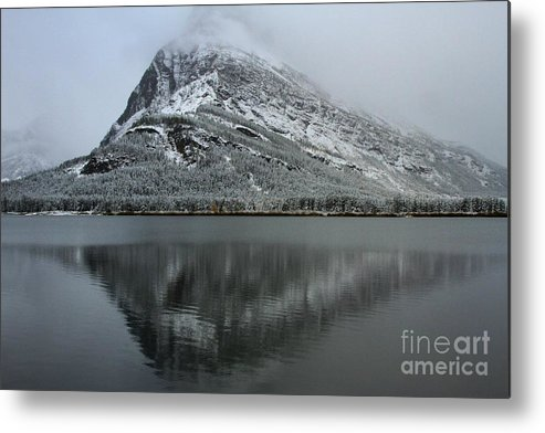 Glacier National Park Metal Print featuring the photograph Grinnell Mirror by Adam Jewell
