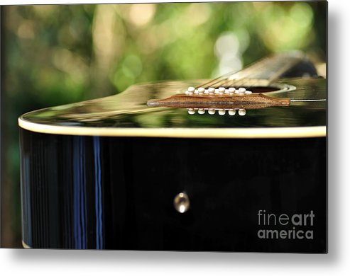 Photography Metal Print featuring the photograph Guitar Abstract 3 by Kaye Menner