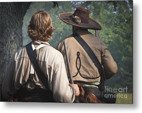 Reenactments Metal Print featuring the mixed media Guns By Our Side We Ride by Kim Henderson