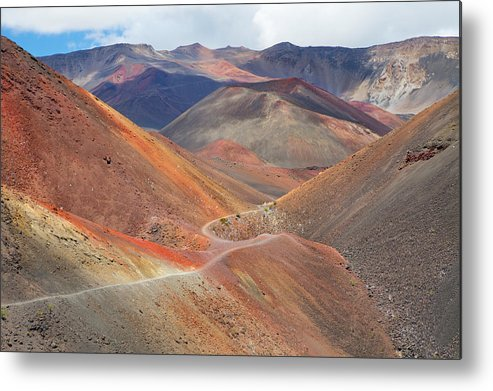 Horizontal Metal Print featuring the photograph Haleakala National Park by Monica and Michael Sweet