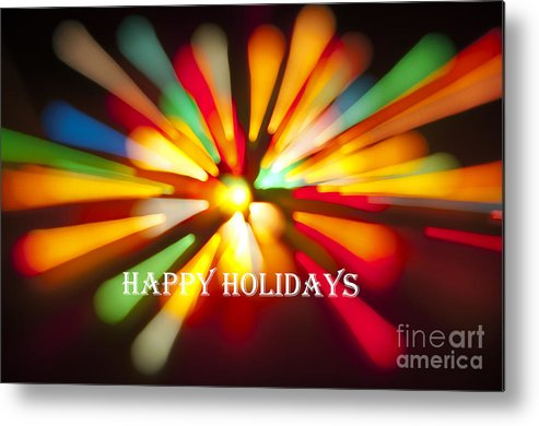 Happy Holidays Metal Print featuring the photograph Happy Holidays Card by Glenn Gordon