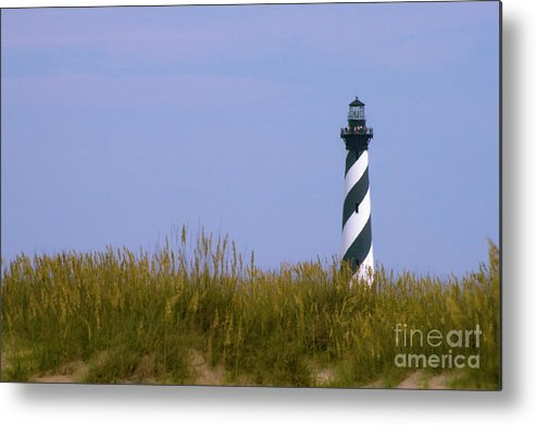 Cape Hatteras Metal Print featuring the photograph Hatteras Light Over The Dunes by Tim Mulina