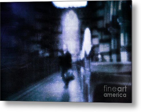 Blue Metal Print featuring the photograph Haunted by Andrew Paranavitana