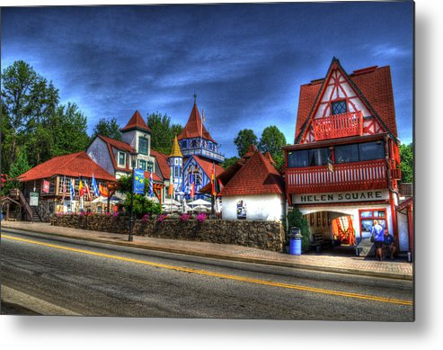 Helen Georgia Metal Print featuring the photograph Helen Square by Greg and Chrystal Mimbs