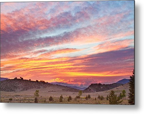 High Park Wildfire Metal Print featuring the photograph High Park Wildfire Sunset Sky by James BO Insogna