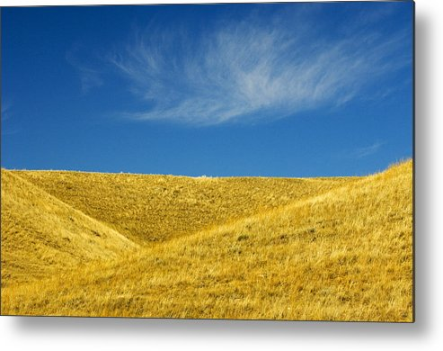 Agriculture Metal Print featuring the photograph Hills And Clouds, Cypress Hills by Mike Grandmailson