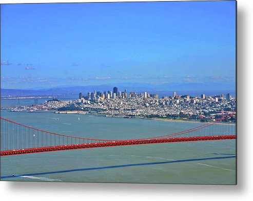 San Francisco Metal Print featuring the photograph I Don't See No Stinkin' Fog Golden Gate San Francisco California by Duncan Pearson