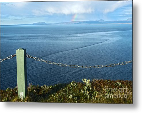 Iceland Metal Print featuring the photograph Iceland Rainbow - 02 by Gregory Dyer