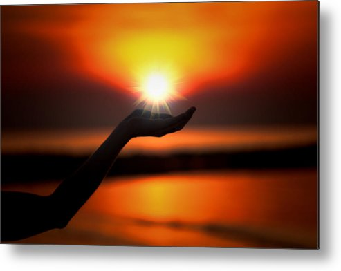 Sunset Metal Print featuring the photograph In The Palm Of My Hand by Douglas Barnard