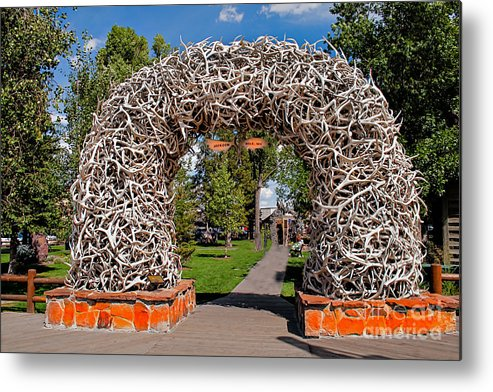 Haybales Metal Print featuring the photograph Jackson Hole by Robert Bales