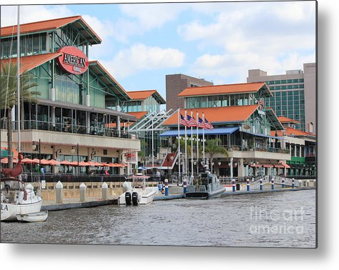 Jacksonville Metal Print featuring the photograph Jacksonville Florida Landing by Rod Andress