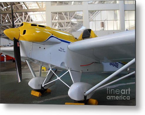Airplane Metal Print featuring the photograph Jdt Mini Max 1600r . Eros . Single Engine Propeller Kit Airplane . 7d11169 by Wingsdomain Art and Photography