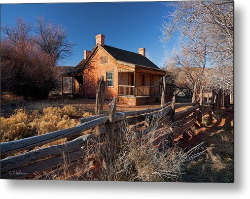 Home Metal Print featuring the photograph John And Ellen Wood Home by Christopher Holmes