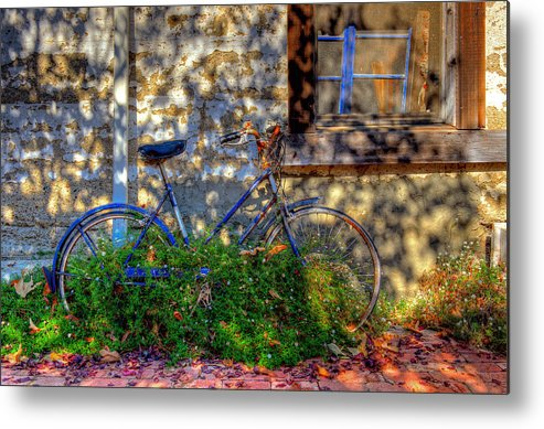 Old Bikes Metal Print featuring the photograph Junked by Eyal Nahmias