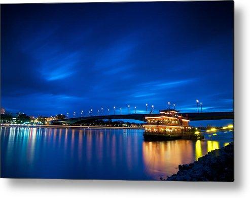 Blue Hour Metal Print featuring the photograph Kennedy Bridge - Bonn by Andre Distel