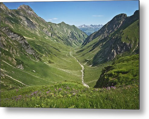 Horizontal Metal Print featuring the photograph Lechtaler Alpen Madautal by @Michi B.