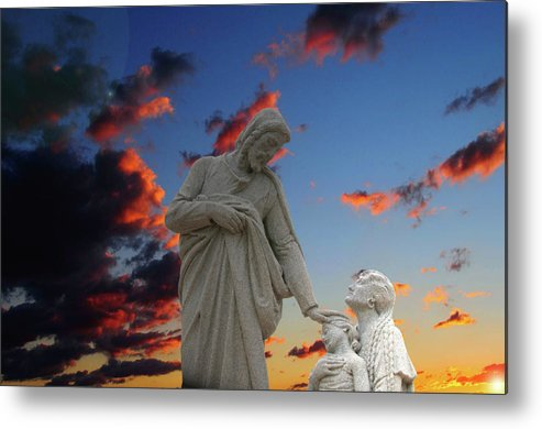 Jesus Metal Print featuring the photograph Let The Little Ones by David Arment