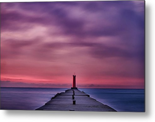 Sheboygan Metal Print featuring the photograph Light House Hdr by Todd Heckert