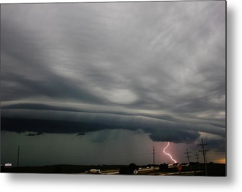 Lightning Metal Print featuring the photograph Lightning Strike by Bradley Hruza