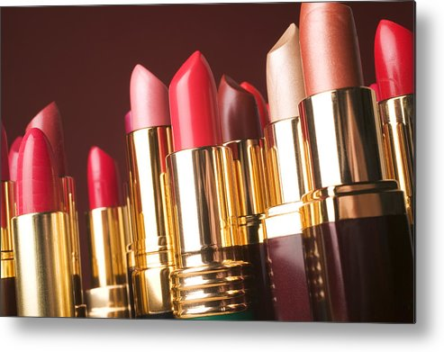 Lipstick Metal Print featuring the photograph Lipstick Tubes by Garry Gay