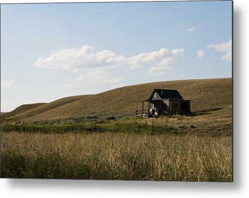 Farmhouse Metal Print featuring the photograph Little House On The Plains by Lorraine Devon Wilke