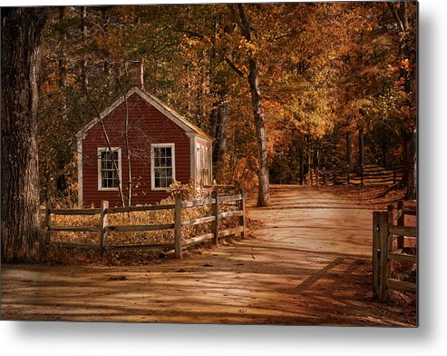 House Metal Print featuring the photograph Little Red House by Robin-Lee Vieira