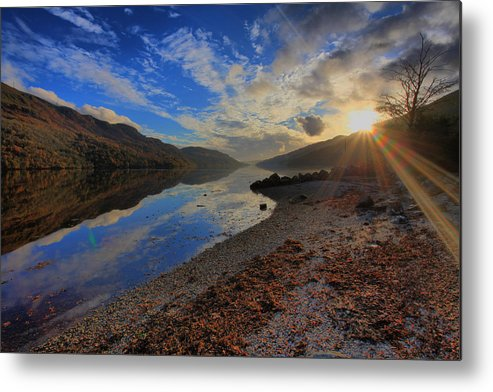 Loch Long Metal Print featuring the photograph Loch Long As The Sun Sets by Stephen Bowden