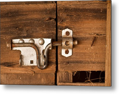 Aged Metal Print featuring the photograph Locked by Jim Finch